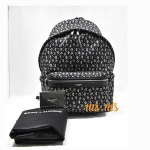 NWT Saint Laurent YSL Robot print Canvas Backpack